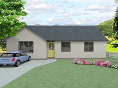 The Highbridge - modified design. The latest addition to our range of family bungalow plans, the Highbridge is a simple but thoughtful design with plenty of space to entertain guests.  The adjoining living room and kitchen / diner make socialising a pleasure, and the three large bedrooms offer plenty of room for people to stay over. A main bathroom is complemented by an en-suite to the master bedroom, with a handy utility area providing access from the rear.