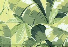Tropical Leaves Green Fabric Maime ANNA GRIFFIN | eBay