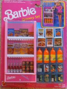 barbie grocery set
