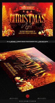 Buy Christmas Flyer by RedsanityDark on GraphicRiver. Features Very easy to edit Photoshop template. Elements labeled in an organized folders.