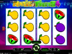 Magic Fruits 4 - http://freeslots77.com/magic-fruits-4/ - Fruits offer health benefits. What happens if these eatables come with magical powers? Those are hard to miss. This is what you will experience when you play free Magic Fruits 4 online slot. This slot machine is the creation of Wazdan. You have 10 paylines to place your bets and all actions take...