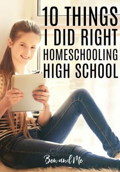 For all the ways I've beaten myself up over homeschooling over the years, I'm going to share with you 10 things I must've done right homeschooling high school.  (Oh, yeah...and there was a lot of that 5 letter word, grace.) #highschool #homeschool #homeschooling