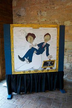 Great alternative photo opp to wedding photo booth.