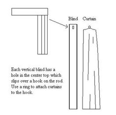 replace vertical blinds with curtains using existing support hardware - Google Search