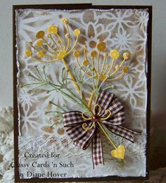 Diane has a wonderful card to honor her mother on Mother's Day. You can see her card and all the details at http://classycardsnsuch.blogspot.com/2014/05/happy-mothers-day.html