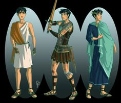Percy Jackson in Greek / Roman clothing by Juliajm15