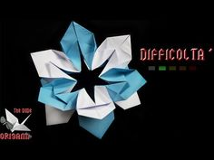 "[ORIGAMI TUTORIAL] ""Snowflake"" Flower 