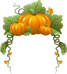Pumpkin Vine Border Random Awesomeness Art etc. Fall