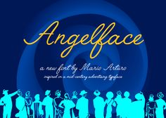 Angelface is a free script font/typeface. The font is free for personal use only. Free Handwritten Script Fonts, Free Typeface, Typography Fonts, Calligraphy Fonts, Script Typeface, Fontes Script, Police Script, Cursive Letters Fancy, Free Handwriting