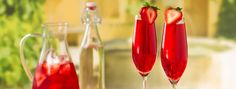 You're out for a fabulous brunch, munching on pancakes and sipping the world's greatest strawberry mimosas. Strawberry Mimosa, Strawberry Colada, Agaves, Coconut Tea, Davids Tea, Brunch, Agave Nectar, Classic Cocktails, Champagne Flutes