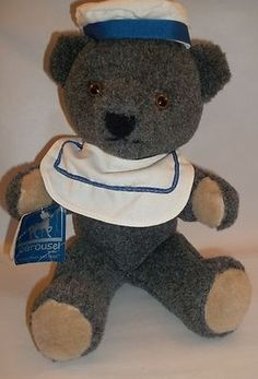 Sailor Bear Carousel by Guy Bearon Von Bismarck Plush New Old Stock w Tag | eBay