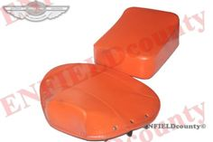 SALE-PAIR-FRONT-REAR-ORANGE-SEAT-COVER-VESPA-SATTEL-SITZKISSEN-SET-VBB-SUPER-PX