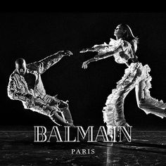 THE #BALMAINARMY IS BACK Starring #KanyeWest and #JoanSmalls  Photography #StevenKlein Creative Direction #PascalDangin at #KidsCreative  #BALMAINFW16