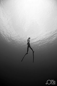 Freediving - Photo taken on one breath by Christina Saenz de Santamaria.