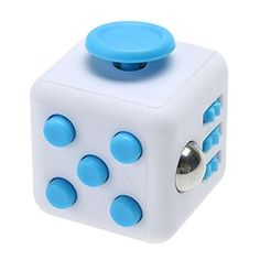 Stress Reliever Fidgety Squeeze Cube Gray / Blue   Sarcastic Me
