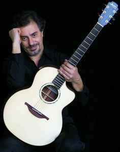 Pierre with his Lowden signature guitar #pierrebensusan #french #music #guitars