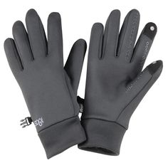 Weather-resistant touch-screen gloves. Gift for him / a runner.