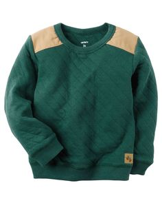 Toddler Boy Quilted Crew-Neck Pullover | Carters.com
