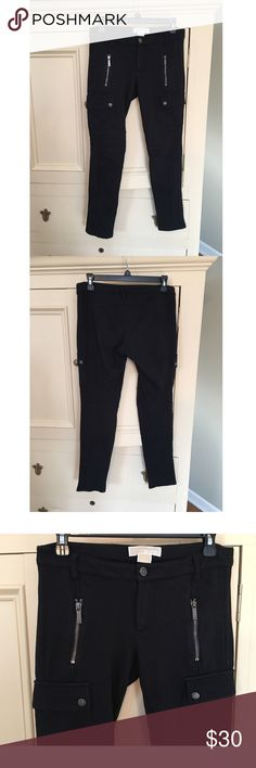 Michael Kors Black Zipper Thick Knit Leggings Michael Kors Black Zipper Thick Knit Leggings. WORN twice but in good condition. Zippers work great. Really comfy leggings / pants! MICHAEL Michael Kors Pants Leggings