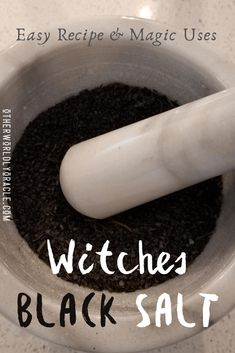 Black Salt Recipe, Wicca Recipes, Witch Rituals, Jar Spells, How To Make Magic, Witch Bottles, Herbal Magic, Kitchen Witchery, No Salt Recipes