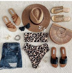 Discover our new arrivals featuring the Summer collection! Stay on-trend with our latest selection of hoop earrings, pendant necklaces, and more. Spring Summer Fashion, Spring Outfits, Leopard Bikini, Vacation Outfits, Beach Day Outfits, Beach Look, Swimsuits, Bikinis, Passion For Fashion