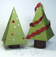 Petal Cone Trees ... cute idea