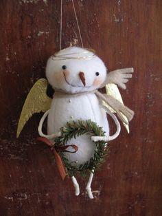 Primitive Whimsy Folk Art Snow Angel E PATTERN by cheswickcompany,