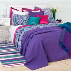 Bedroom - Zara Home - Rich jewel colours.