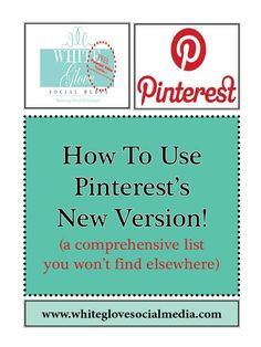 "How To Use Pinterest's NEW VERSION (Part 1 to 3) « TIP: ***Make sure you read all this before converting to the new version so you can advantage of the old features that you won't get in the new version.*** ""REPIN"" this to help others."