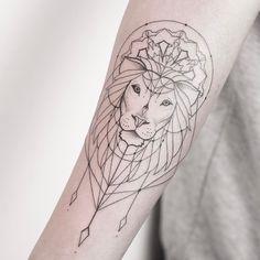 lion tattoo design by xoxotattoo