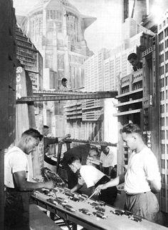 On the set of Metropolis (1927)