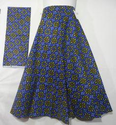 Modest African Wax Fabric Skirt Maxi Wrap Skirt Ankara Party Long Skirt P…