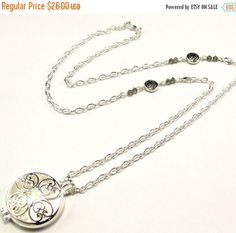 ON SALE Aromatherapy Necklace  Beautiful Flower by byBrendaElaine
