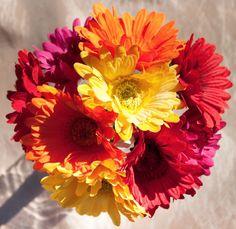 GERBERA Daisy DAISIES Silk Wedding Bride's Bouquet Arrangement Centerpieces SALE
