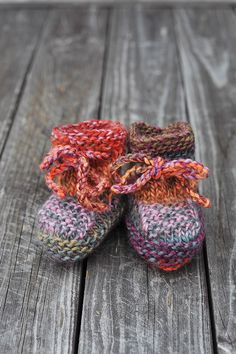 """Baby Boy Girl multicolor - orange pink red green warm wool lace up stay on Booties / Socks for Fall Winter baby shower 6-9 months 4"""" (10 cm) by SweetMeadowSweet on Etsy https://www.etsy.com/listing/166485479/baby-boy-girl-multicolor-orange-pink-red"""