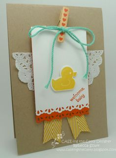 CTC05 - Baby Challenge - Something for Baby, Baby's First Framelits, Itty Bitty Banners, Petite Pairs - Rebecca Scurr - Independent Stampin' Up! demonstrator - www.facebook.com/thepaperandstampaddict