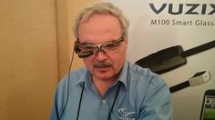 The Vuzix M100 smart glasses, which we saw at ShowStoppers during the MWC, is an Android-based device that lets you record and play back video, track events and link to your phone.