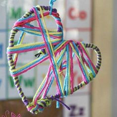 Wool and pipe cleaner heart