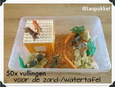 50x vullingen voor de zand- en watertafel - Lespakket - thema's, lesideeën en informatie - onderwijs aan kleuters