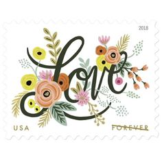 Love Flourishes Forever stamp by Rifle Paper Company