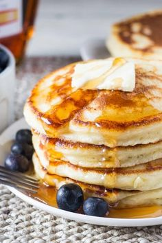 These fluffy ricotta pancakes have a delicious creamy flavor and the ultimate fluffy texture. The batter is thick, so you get perfectly tall pancakes stacks