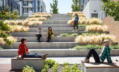 Waller Park by MSLA « Landscape Architecture Platform Landscape Stairs, Park Landscape, Urban Landscape, Landscape Design Plans, Landscape Architecture Design, Concept Architecture, Architecture Diagrams, Architecture Portfolio, Amphitheater Architecture