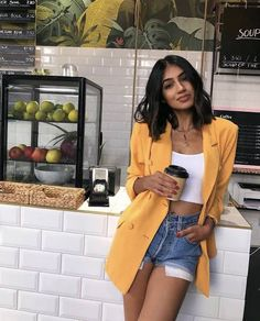 Spring/ Summer Outfit Inspiration # Fashion summer 44 Trendy Summer Outfits Ideas for Women Street Style Casual Summer Outfits, Spring Outfits, Trendy Outfits, Cute Outfits, Outfit Summer, Holiday Outfits, Simple Outfits, Casual Street Style Summer, Layered Summer Outfits