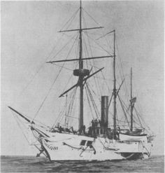 """USS Michigan was the United States Navy's first iron-hulled warship and served during the American Civil War. She was renamed USS Wolverine in 1905. In an encounter with Great Lakes """"timber pirates"""" in the 1850s, a steamer rammed Michigan. The pirate vessel was badly damaged in the maneuver, and was captured."""