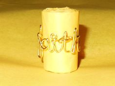 Faith Wire Word Ring by JenBeeCardCo on Etsy, $13.50