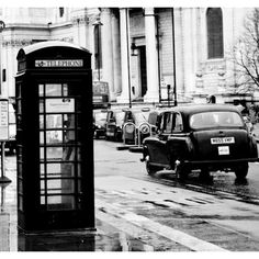 London Photography - On the Streets of London, England 20x20 Photograph on gallery wrap canvas - black and white photography (€175) found on Polyvore