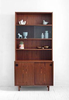 Midcentury Danish Rosewood Wall Unit Credenza Hutch by Hindsvik - modern - bookcases cabinets and computer armoires - - by Etsy