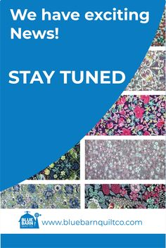 We have exciting news!! STAY TUNED - we will be unveiling our announcement TOMORROW!  #bluebarnquiltco  #excitingnews #staytuned #sewcanadian #onlinefabricshop #canadianquiltshop #yegquilter