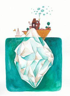 Illustration by Emma Fragola Surréal world - Wonderlandscape