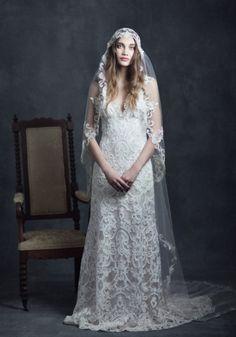 vestido de noiva em renda de claire pettibone gothic angel faith estilo vintage #casarcomgosto
